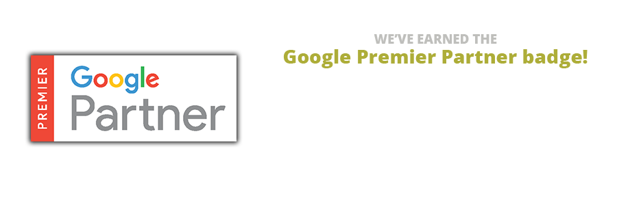 We've Earned the Google Premier Partner badge!